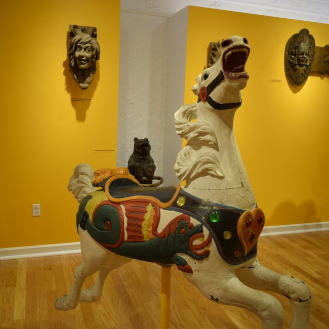 carousel horse in gallery
