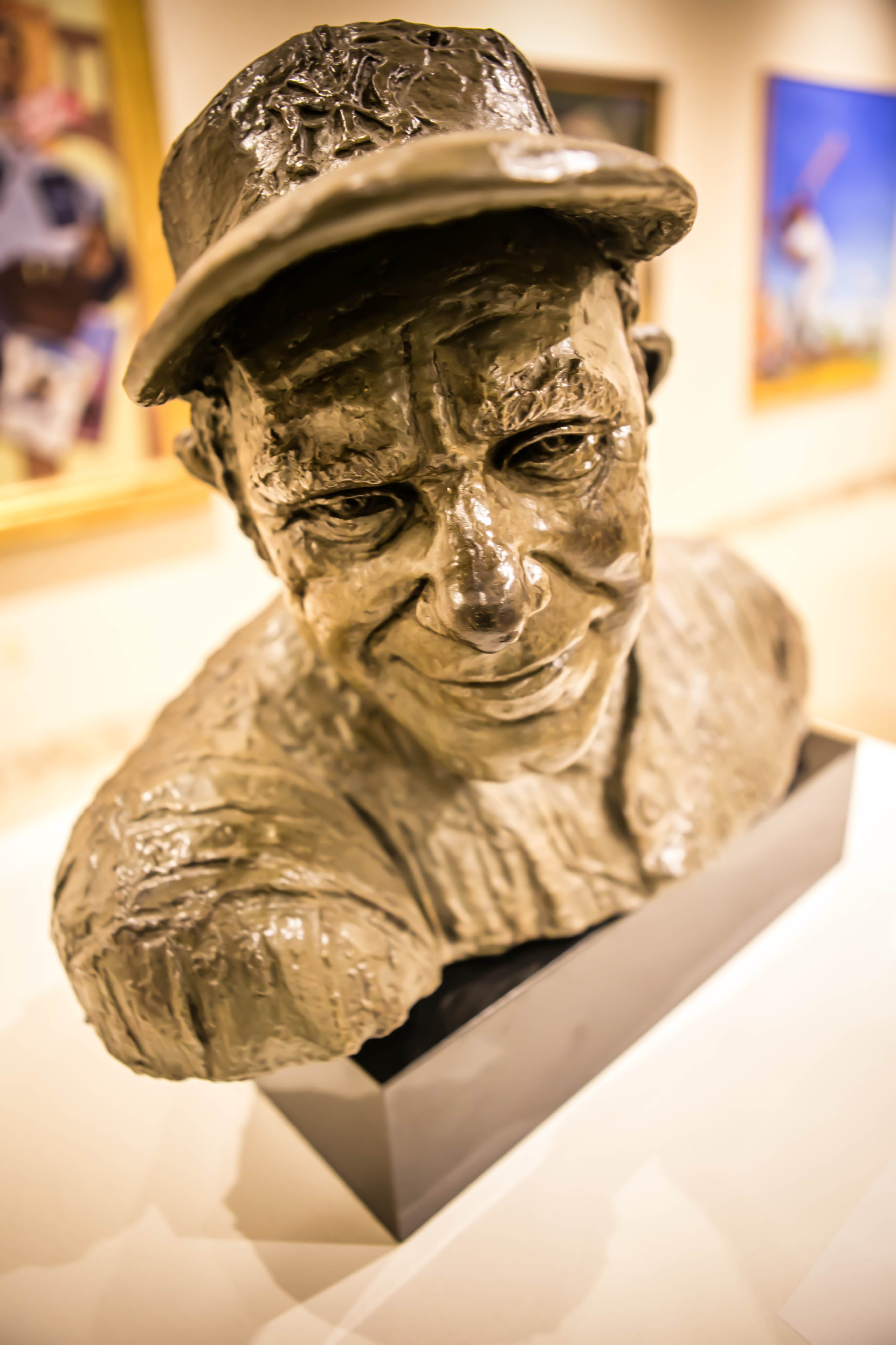 bust of baseball player