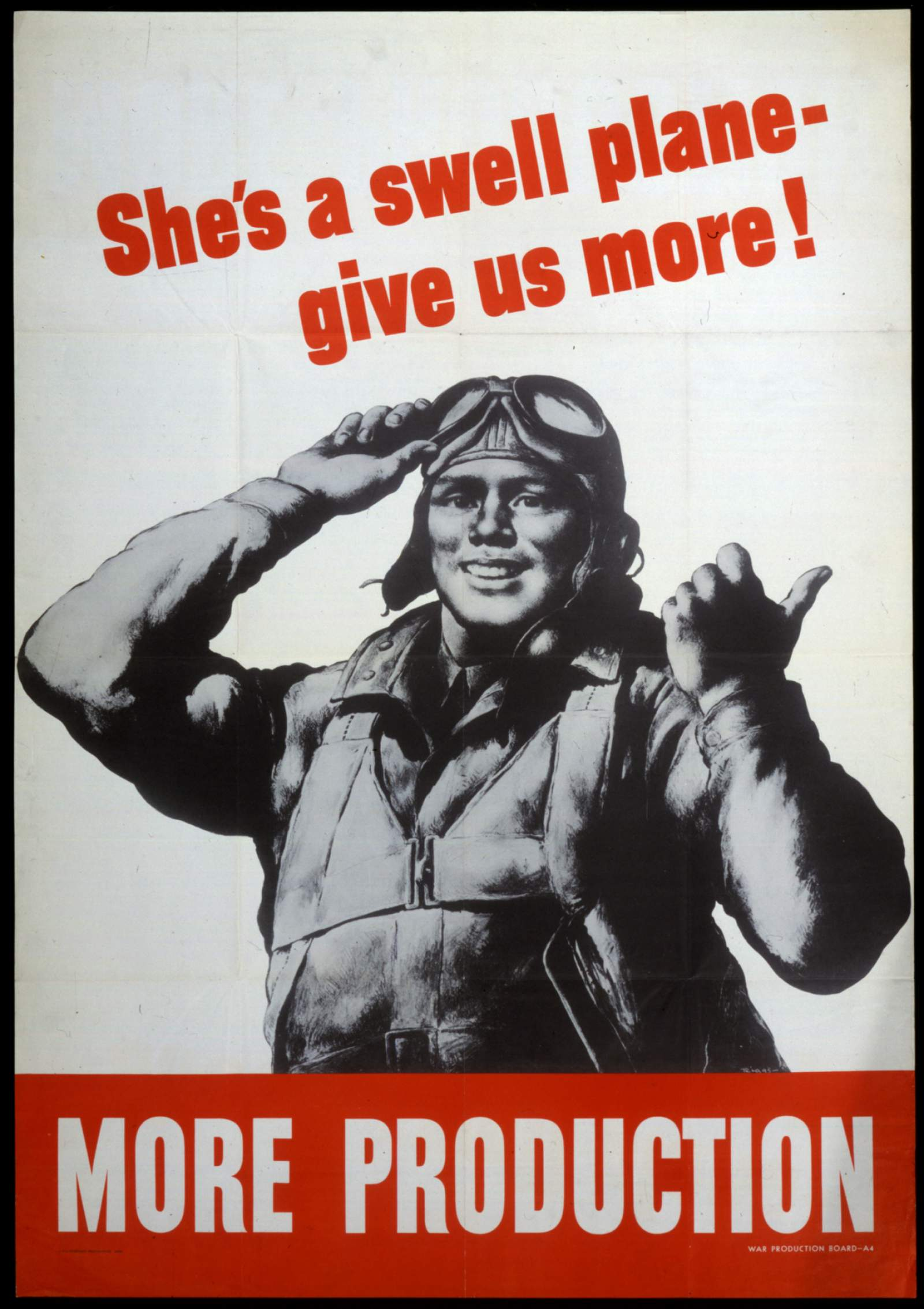 air force man with text saying she's a swell plane give us more more production