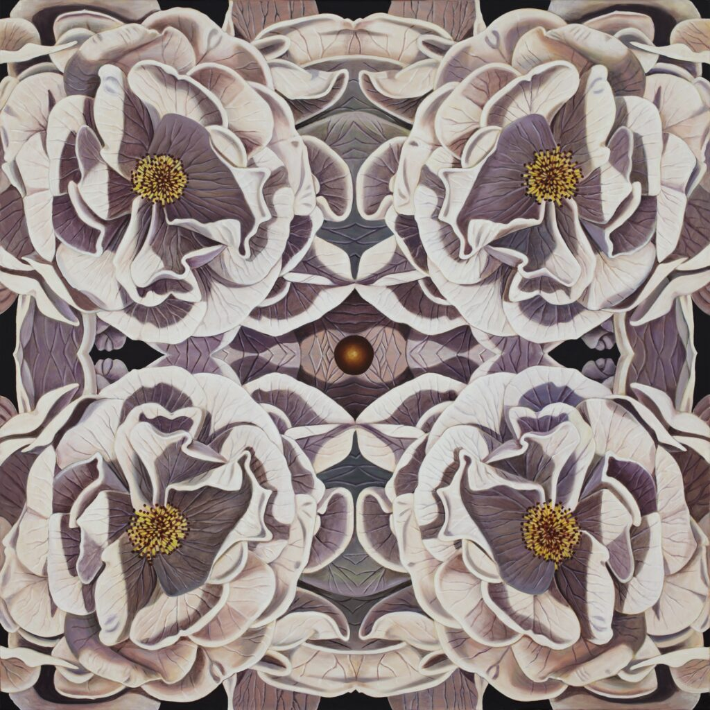 flowers in a kaleidoscope pattern