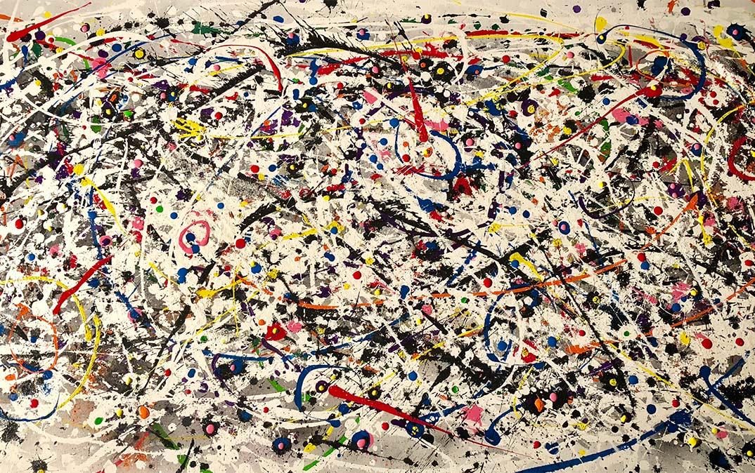 Paint splatters of multiples colors