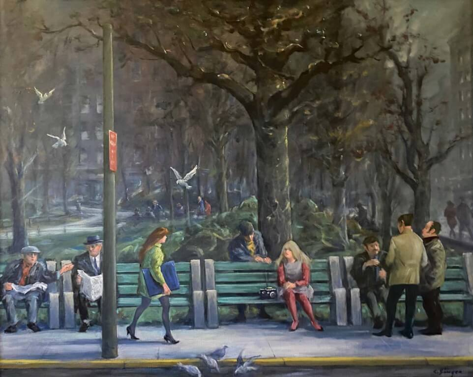 Image by Clyde singer of people in a park